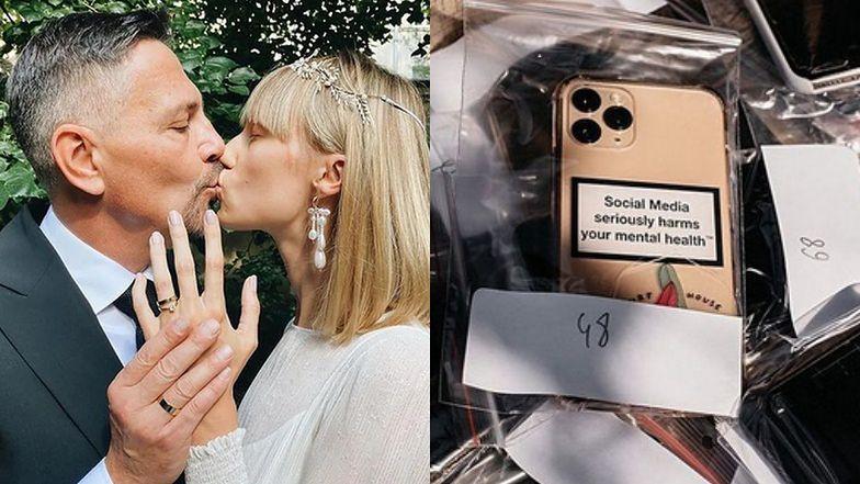 """Krzysztof Ibisz wspomina ślub i pokazuje zarekwirowane gościom smartfony: """"Dziękujemy za zabawę BEZ TELEFONÓW"""" (ZDJĘCIA)"""
