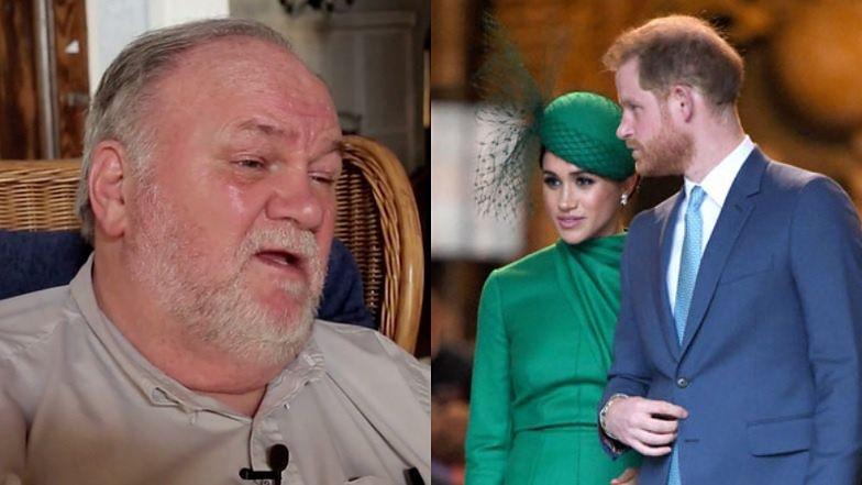 Thomas Markle WYSTAWIŁ Meghan i Harry'ego przed ich ślubem? Ujawniono treść SMS-ów w procesie pary przeciwko tabloidowi