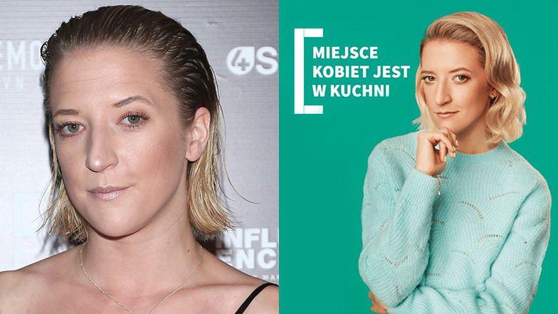 """Sukces Lary Gessler: została TWARZĄ DRZWI, które reklamuje hasłem: """"Miejsce kobiet jest w kuchni"""""""