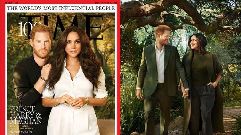 """WYPRASOWANI książę Harry i Meghan Markle pozdrawiają z okładki """"Time""""(ZDJĘCIA)"""