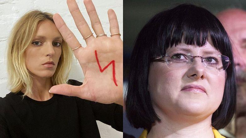 """Zaangażowana Anja Rubik wspiera strajk przeciw ustawie antyaborcyjnej: """"Pani Godek chce, abym UMARŁA PODCZAS PORODU"""""""