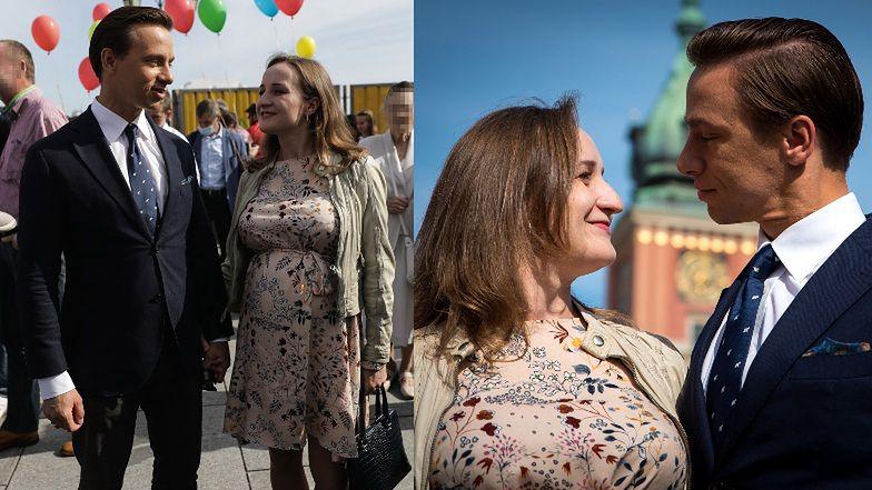 Pękający z dumy Krzysztof Bosak z CIĘŻARNĄ ŻONĄ na Marszu dla Życia i Rodziny (ZDJĘCIA)