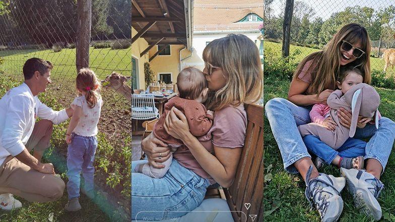 """Anna i Robert Lewandowscy niewzruszeni """"aferami"""" spędzają niedzielę z córkami (ZDJĘCIA)"""
