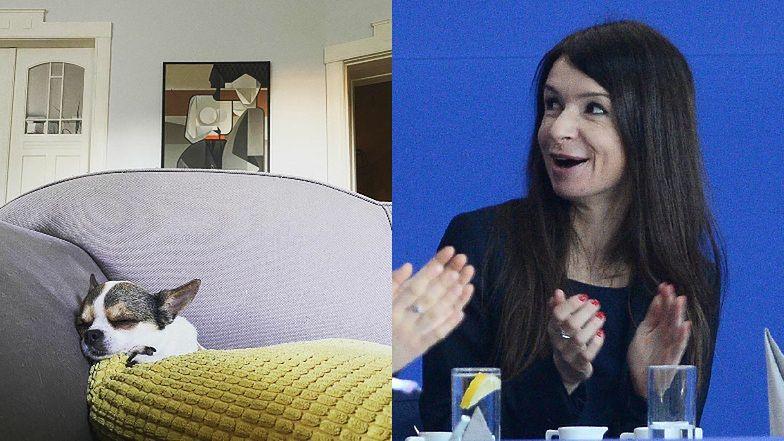 Tajemnicza Marta Kaczyńska chwali się fragmentem stylowego salonu i obrazem za 5 TYSIĘCY złotych (FOTO)
