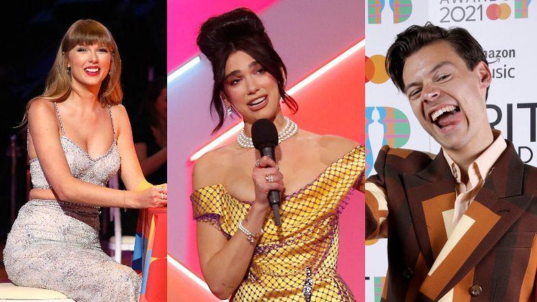 Brit Awards 2021: triumfują Taylor Swift, Harry Styles oraz Dua Lipa i jej okazały kok (ZDJĘCIA)