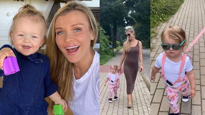"""TYLKO NA PUDELKU: Joanna Krupa tłumaczy, dlaczego prowadzi córkę... NA SMYCZY: """"Będę wychowywać moje dziecko, JAK JA CHCĘ"""""""
