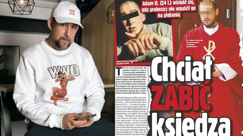 """""""Super Express"""" pomylił mężczyznę, który NAPADŁ NA KSIĘDZA, z... raperem Sokołem!"""