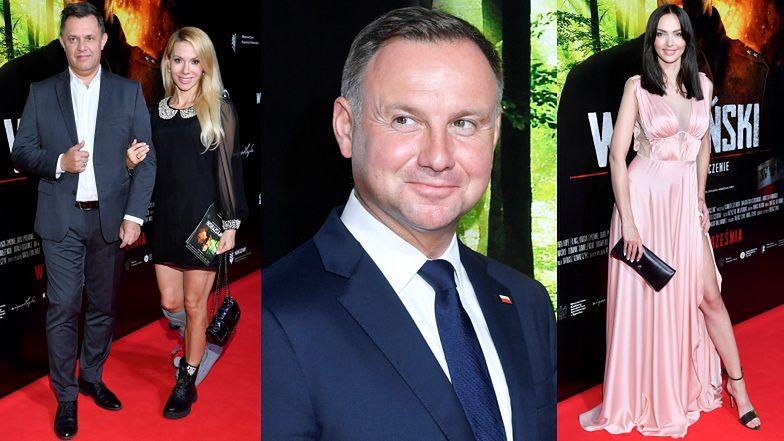Premiera filmu o kardynale Wyszyńskim: Małgorzata Opczowska w ortezie, Marcela Leszczak niczym Angelina Jolie i... Andrzej Duda (ZDJĘCIA)