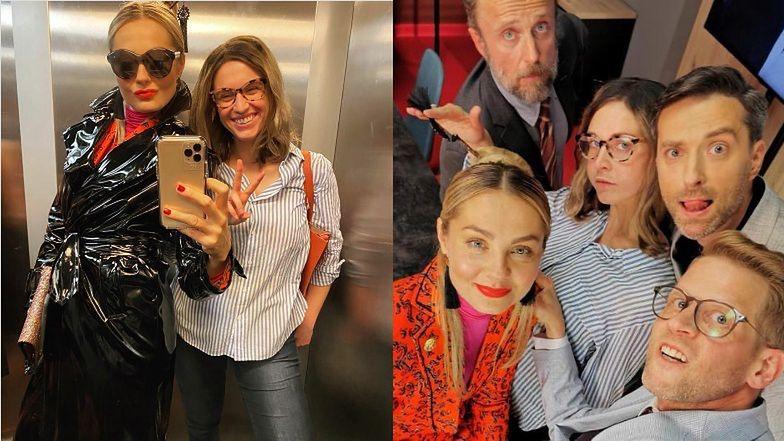 """Rozbawione Małgorzata Socha i Julia Kamińska pozują do selfie w charakteryzacjach z """"BrzydUli"""" (FOTO)"""