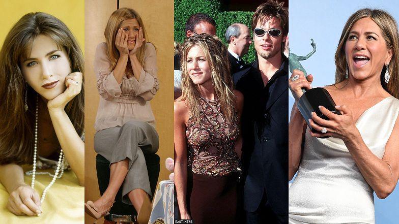 """Jennifer Aniston kończy 52 lata! Od Rachel z """"Przyjaciół"""" i żony Brada Pitta po niezależną kobietę sukcesu"""