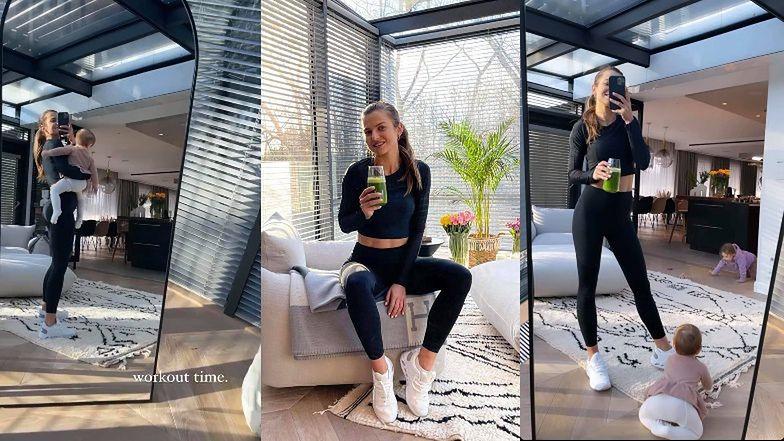 Anna Lewandowska chwali się luksusowym salonem, sącząc zielony sok. Chcielibyście tak mieszkać? (ZDJĘCIA)