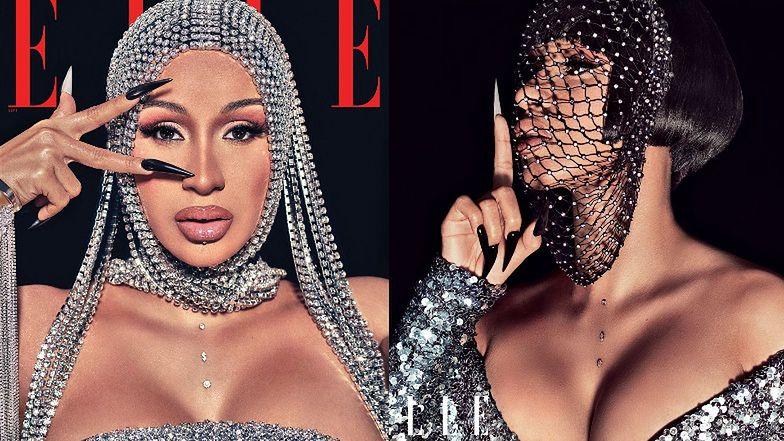 """Cardi B pozuje w futurystycznych nakryciach głowy dla """"Elle"""" i wyznaje: """"Ludzie bez przerwy mnie ATAKUJĄ"""" (ZDJĘCIA)"""