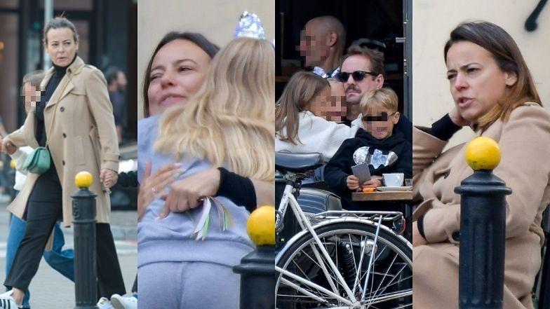 Anna Mucha i Jakub Wons tulą pociechy podczas rodzinnego wypadu do kawiarni (ZDJĘCIA)