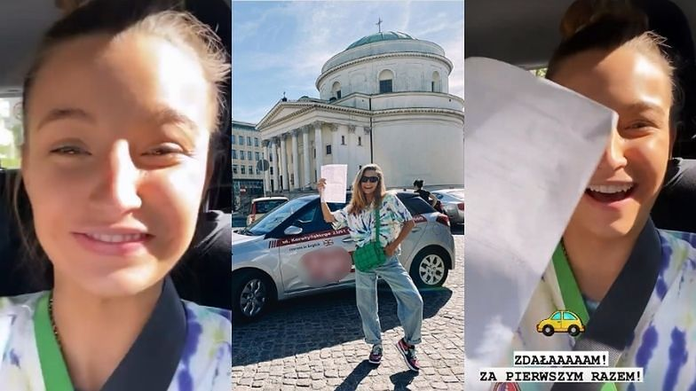 """Julia Wieniawa ZDAŁA egzamin na prawo jazdy za PIERWSZYM RAZEM: """"Z drogi śledzie, bo WIENIAWKA JEDZIE"""""""