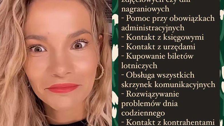 """Maja Bohosiewicz zamieściła SKANDALICZNĄ ofertę pracy! Oburzeni internauci komentują: """"Czuję się ZMOBBINGOWANA od samego ogłoszenia"""""""