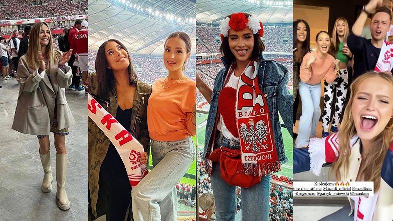 Sławne kibicki dokazują na meczu Polska-Anglia: Marina, Małgorzata Rozenek, Klaudia Halejcio, Patricia Kazadi... (ZDJĘCIA)