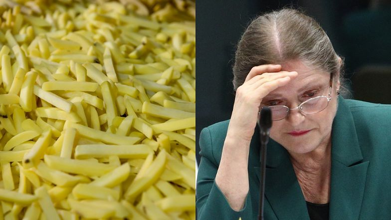Krystyna Pawłowicz krytykuje wegan za to, że jedzą FRYTKI ZROBIONE Z WARZYW