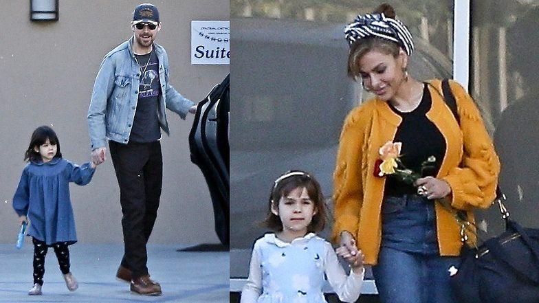 Szczęśliwi Ryan Gosling i Eva Mendes spacerują z córkami (ZDJĘCIA)