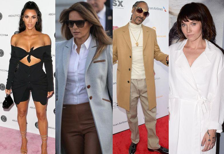 Najciekawsze uliczne stylizacje tygodnia: Trump, Kardashian, Gąsiorowska…
