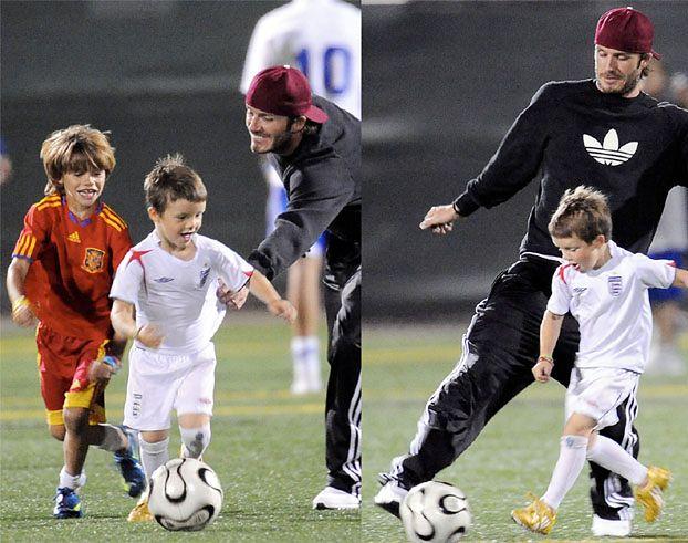 """David Beckham: """"Surowo wychowuję synów"""""""