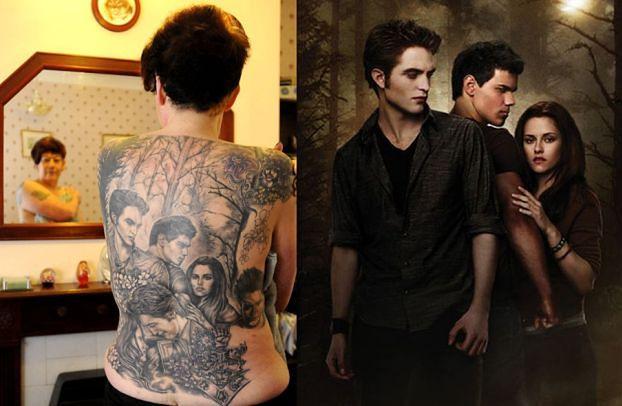 Wytatuowała sobie na plecach... Pattinsona! (FOTO)