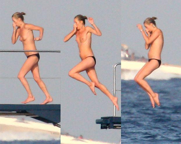 Kate Moss TOPLESS na jachcie! (FOTO)