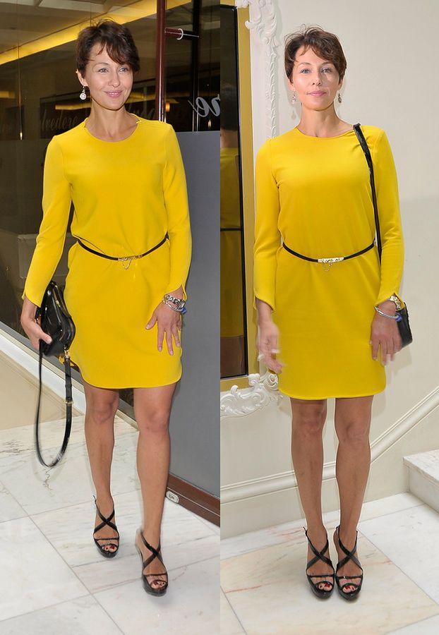 Popek w żółtej sukience
