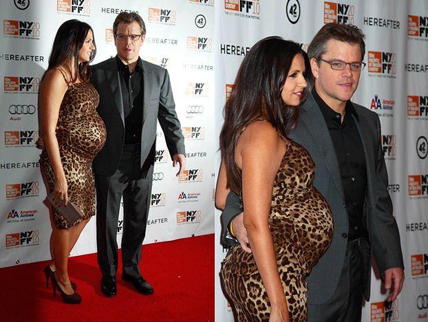 Matt Damon z BARDZO ciężarną żoną!