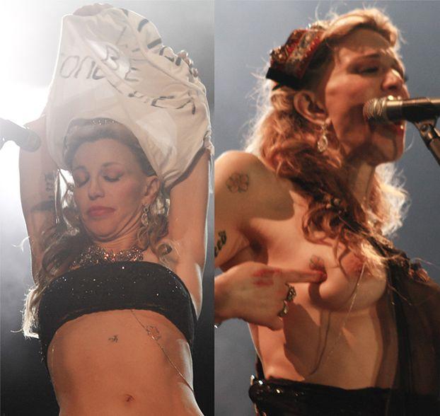Courtney Love ROZEBRAŁA się na koncercie! (ZDJĘCIA)