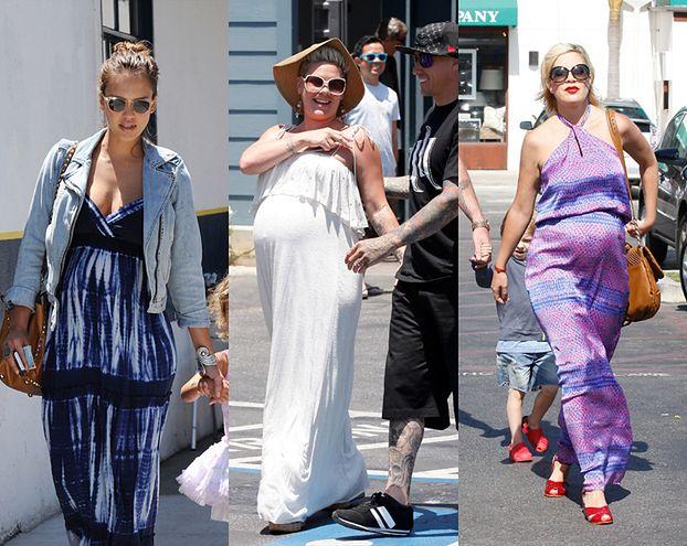 Alba, Pink i Tori Spelling w ciąży! (ZDJĘCIA)