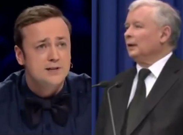 """HIT SIECI: Kaczyński śpiewa hymn w """"X Factor""""..."""