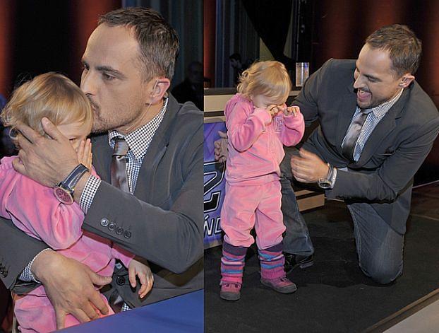 Egurrola wziął córeczkę na casting...