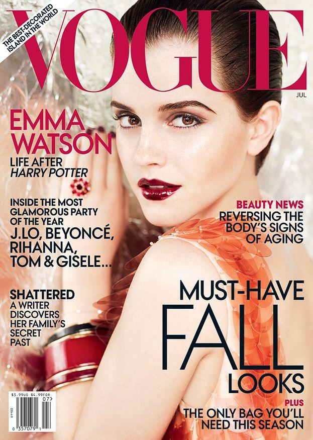 """Ostra Emma Watson na okładce """"Vogue'a""""! (ZDJĘCIA)"""