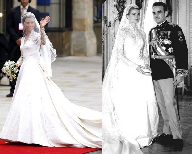 Kate miała taką samą suknię jak Grace Kelly? (PORÓWNAJ)