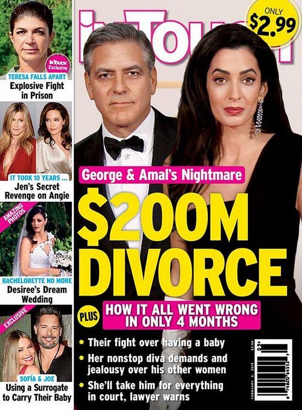 """Kryzys w związku Clooneya i Amal? """"KŁÓCĄ SIĘ O DZIECKO"""""""