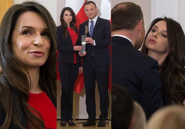 Marta Kaczyńska wręczyła nagrodę... Andrzejowi Dudzie (ZDJĘCIA)