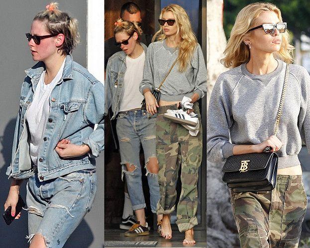 Zgrzana Kristen Stewart i bosa Stella Maxwell wychodzą ze wspólnego pedicure'u
