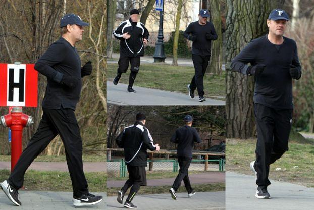 Donald Tusk biega... z ochroniarzem z BOR-u (ZDJĘCIA)