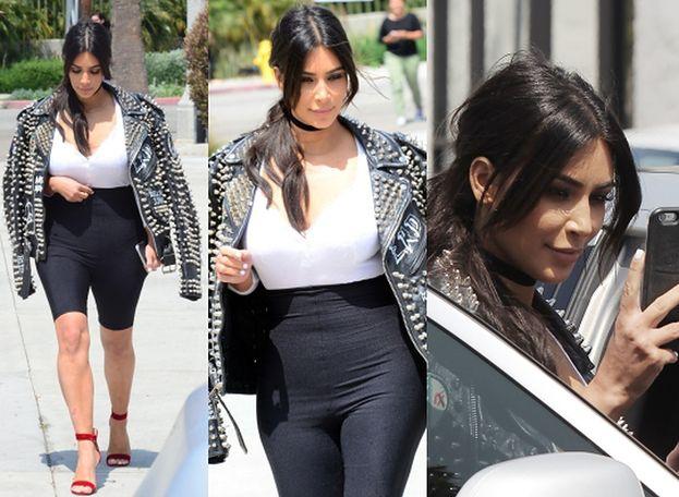 Kim Kardashian w kurtce za... ponad 40 tysięcy złotych! (ZDJĘCIA)