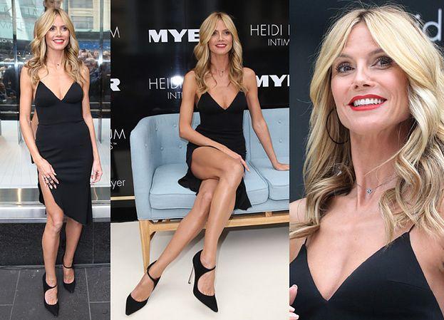 Heidi Klum POKAZUJE NOGI na premierze bielizny! (ZDJĘCIA)
