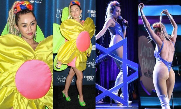 Miley Cyrus przebrała się... za kwiat (ZDJĘCIA)
