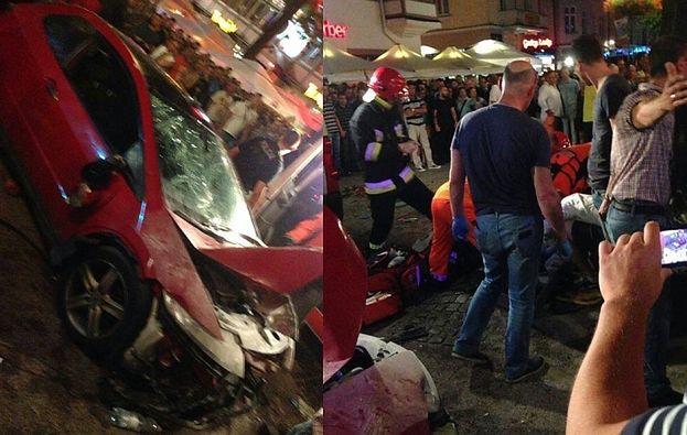WJECHAŁ W TŁUM LUDZI w Sopocie! Jeździł po molo! 22 osoby są ranne!