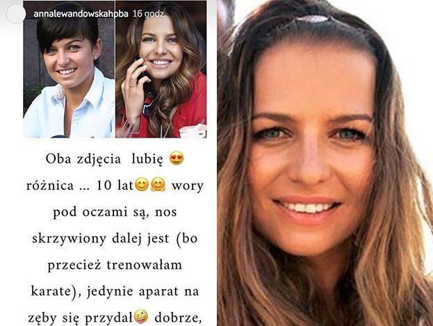 """Anna Lewandowska wypiera się """"poprawiania urody"""" i porównuje stare zdjęcia: """"Mam dobrego fryzjera"""""""