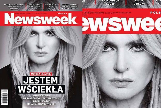 """""""GROŹNA"""" Olejnik na okładce Newsweeka: """"JESTEM WŚCIEKŁA!"""" (FOTO)"""