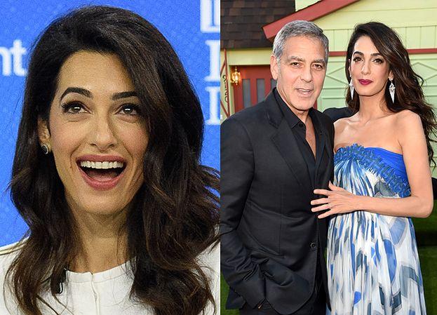 """Amal Clooney znowu jest w ciąży? """"Ma apetyt na ciasto truflowe i pizzę"""""""
