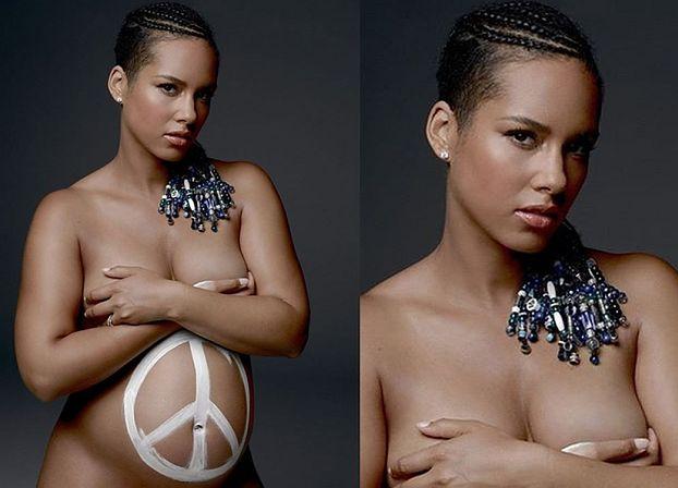 Naga Alicia Keys w ciąży! (FOTO)
