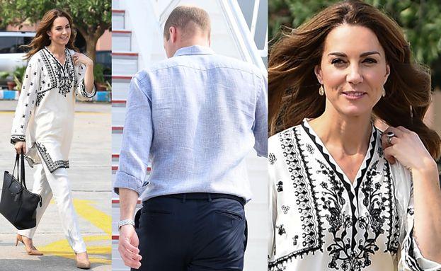Kate Middleton w tunice i książę William w wygniecionej koszuli żegnają się z Pakistanem (ZDJĘCIA)