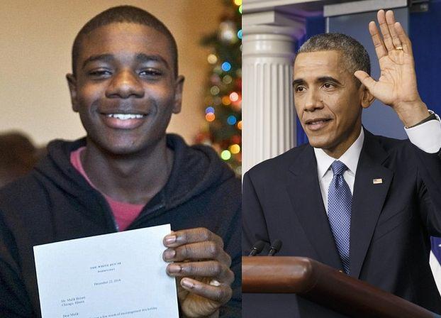 Nastolatek napisał list do Świętego Mikołaja. Odpowiedział mu... Barack Obama!