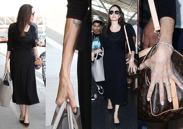 Chuda Angelina z żyłami na rękach (ZDJĘCIA)