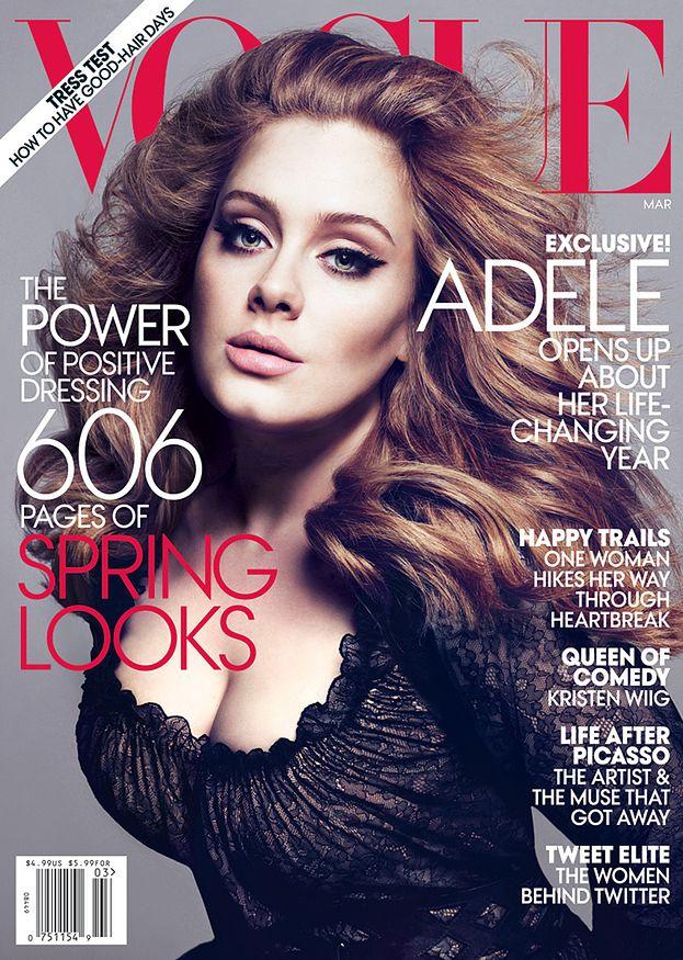 """Adele na okładce amerykańskiego """"Vogue'a""""! (FOTO)"""